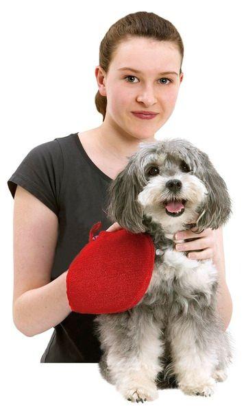 KARLIE cistici rukavice cervena 24x16cm