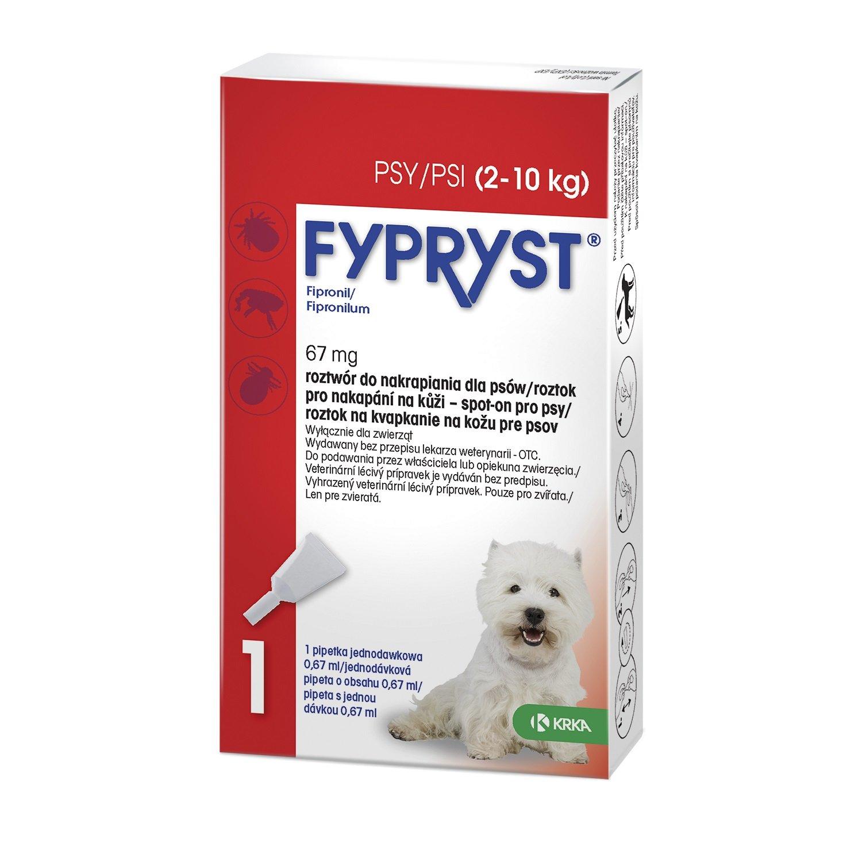 Fypryst antip.spot on a.u.v. S (pes 2-10kg)