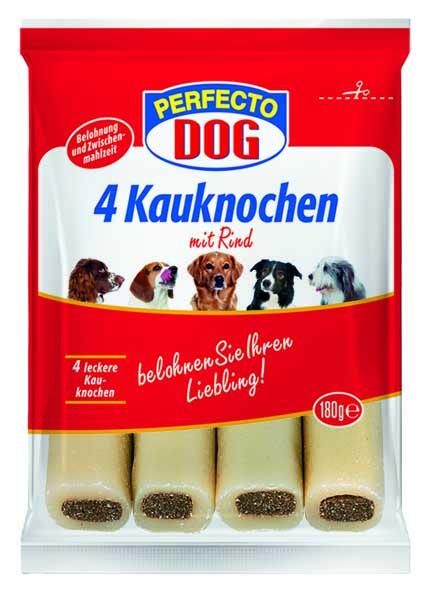 Perfecto Dog plnene zvykaci tycky hovezi 4ks