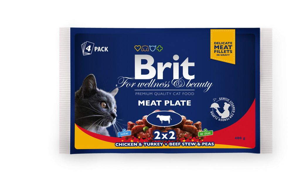 Kap.Brit Cat Prem. Pouches masova variace 4x100g