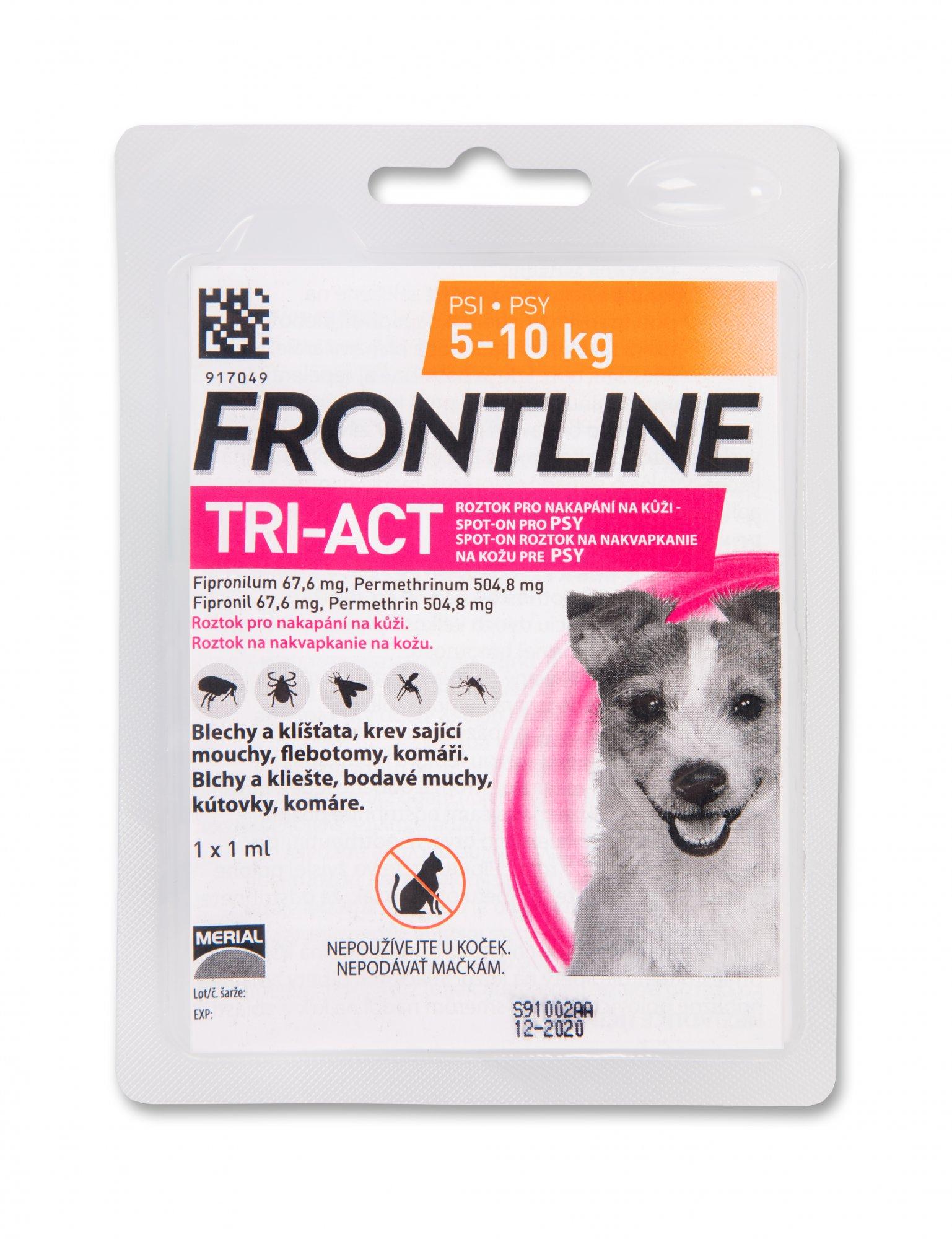 Frontline antip.TRI-ACT Spot-on Dog 1ml S
