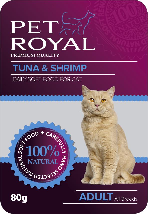 Kap.Pet Royal Cat tunak+krevety 80g