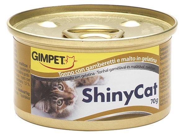 Konz.SHINY CAT tunak+kreveta+maltoza 70g
