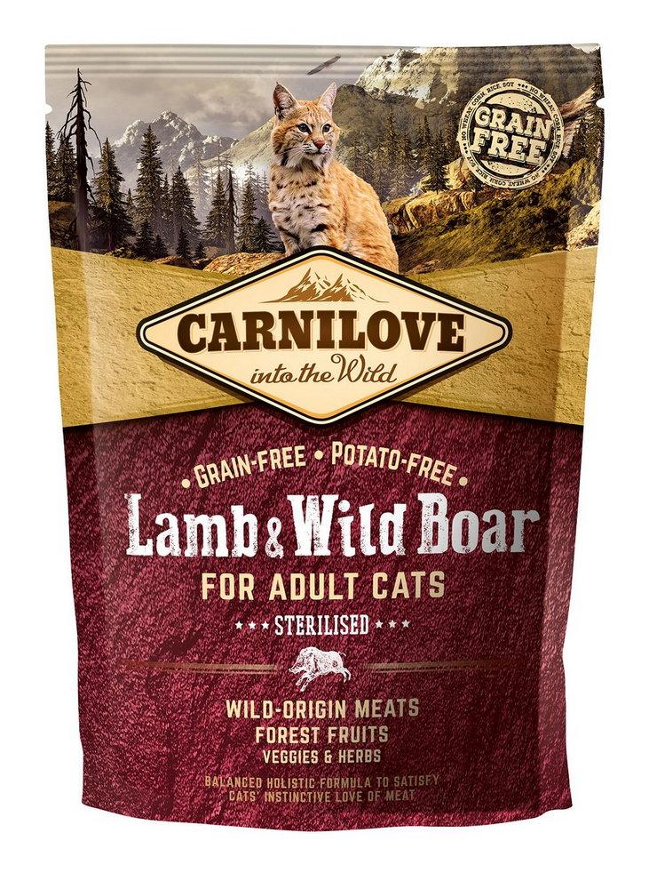 Carnilove Cat Grain Free Lamb&Wild Boar Adult Sterilised 400g prodejna