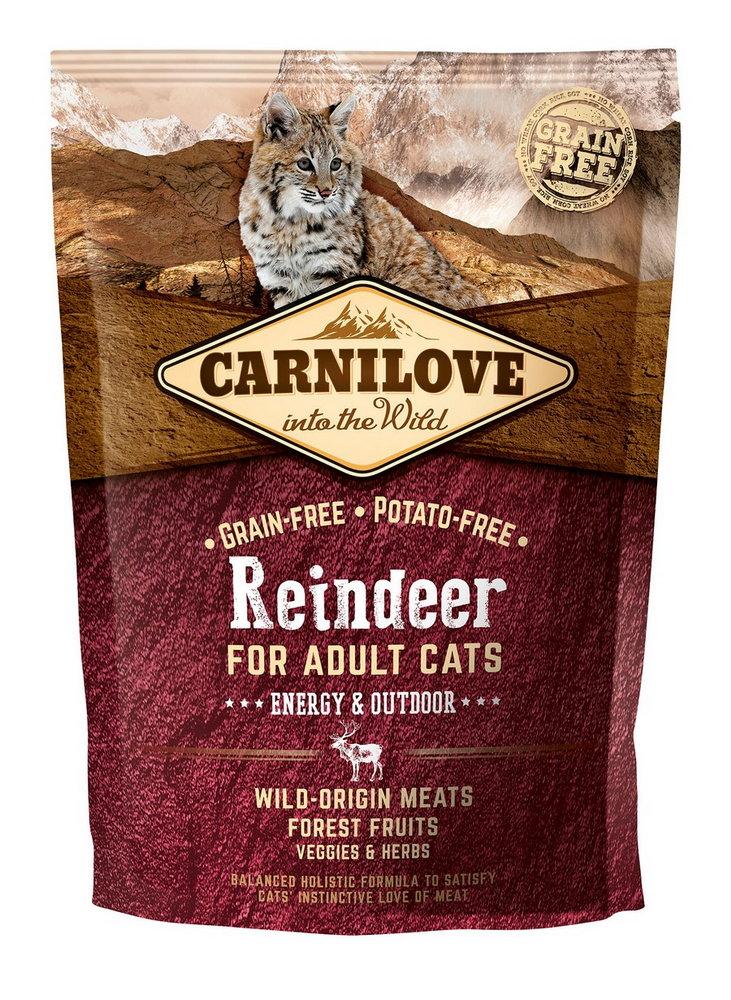 Carnilove Cat Grain Free Reindeer Adult Energy&Outdoor 400g prodejna