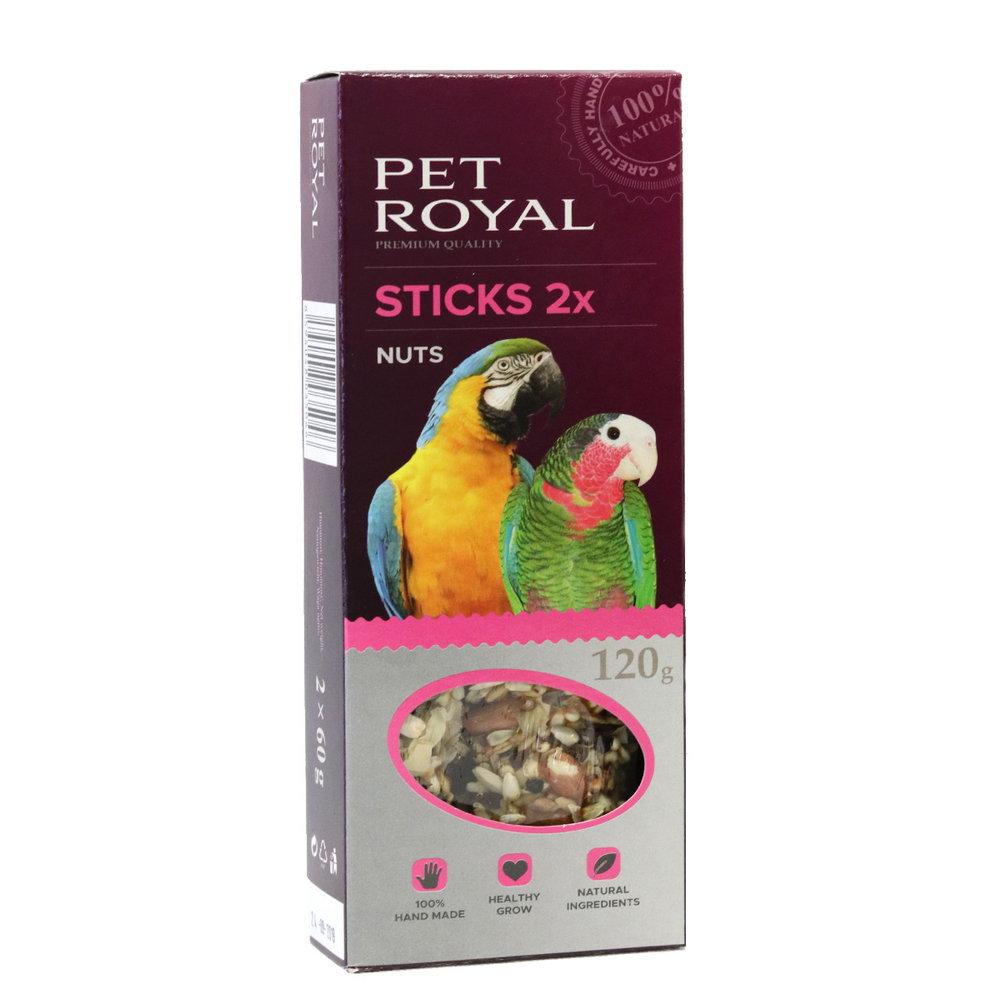 Pet Royal stick Velky papousek orech-kokos 2ks