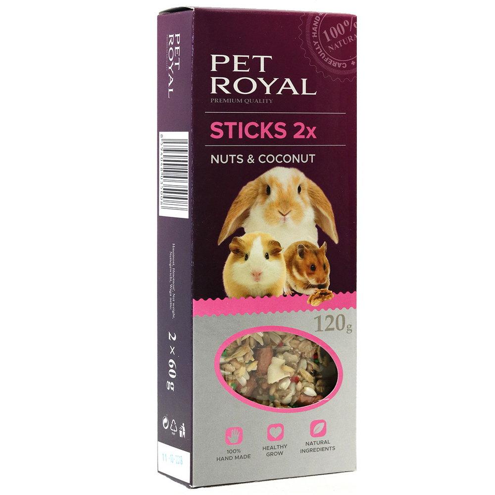 Pet Royal stick Hlodavec orech-kokos 2ks