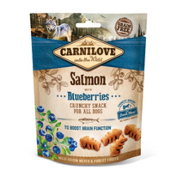 Carnilove Dog Crunchy Snack Salmon,Blueberries,meat 200g