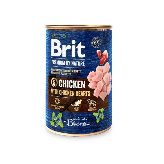 Konz.Brit Prem.by Nature Chicken with Hearts 400g