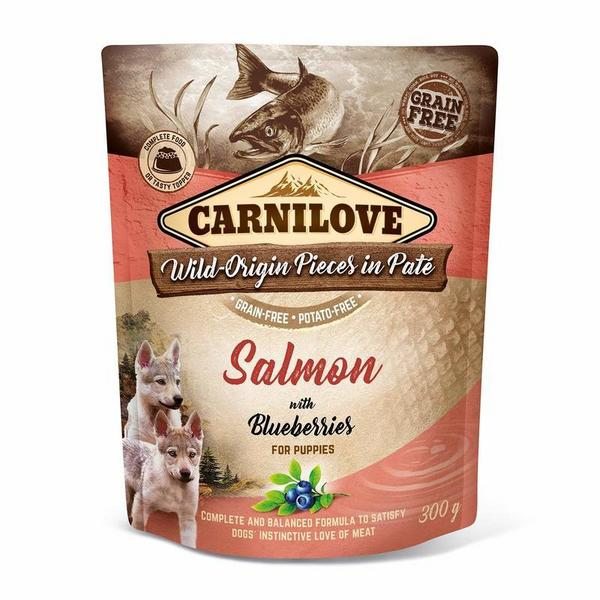 Kap.Carnilove Dog Paté Salmon with Blueberries for Puppies 300g
