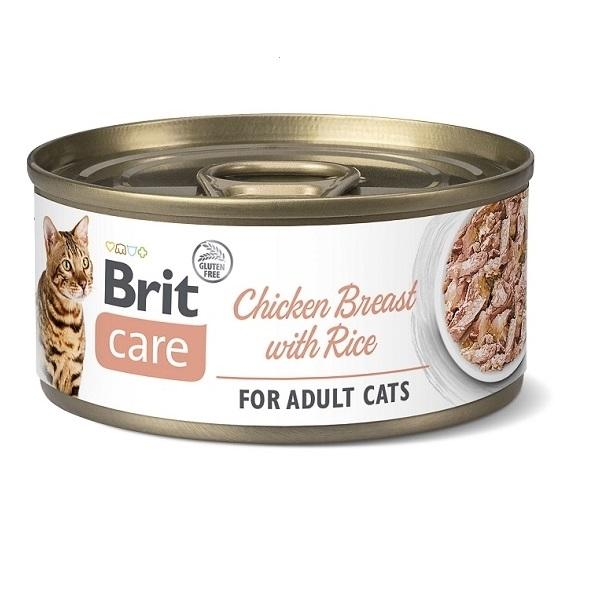 Konz.Brit Care Cat Chicken Breast with Rice 70g