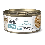 Konz.Brit Care Cat Sterilized Tuna Paté with Shrimps 70g